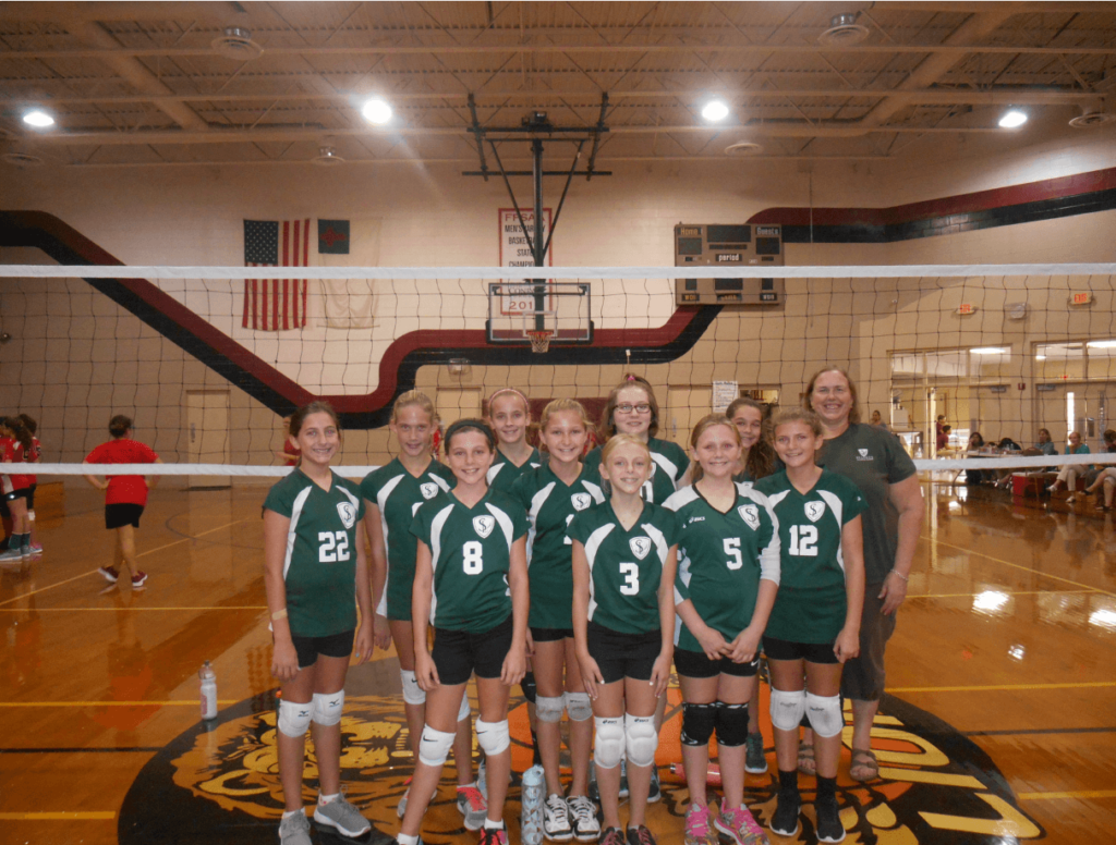 Group of volleyball players