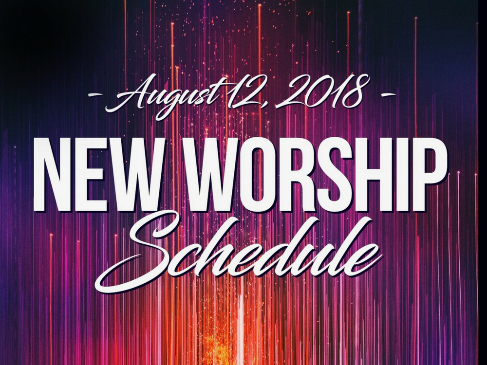 New Worship Schedule banner
