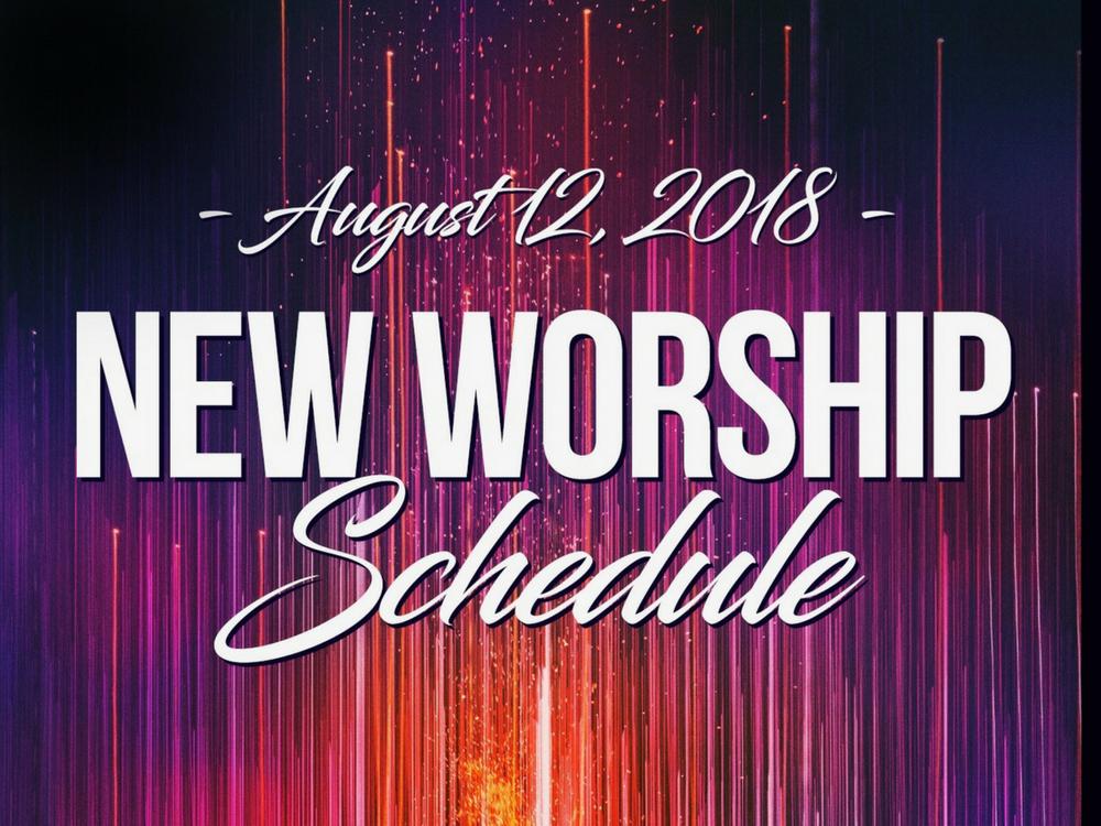 New Worship Schedule banner