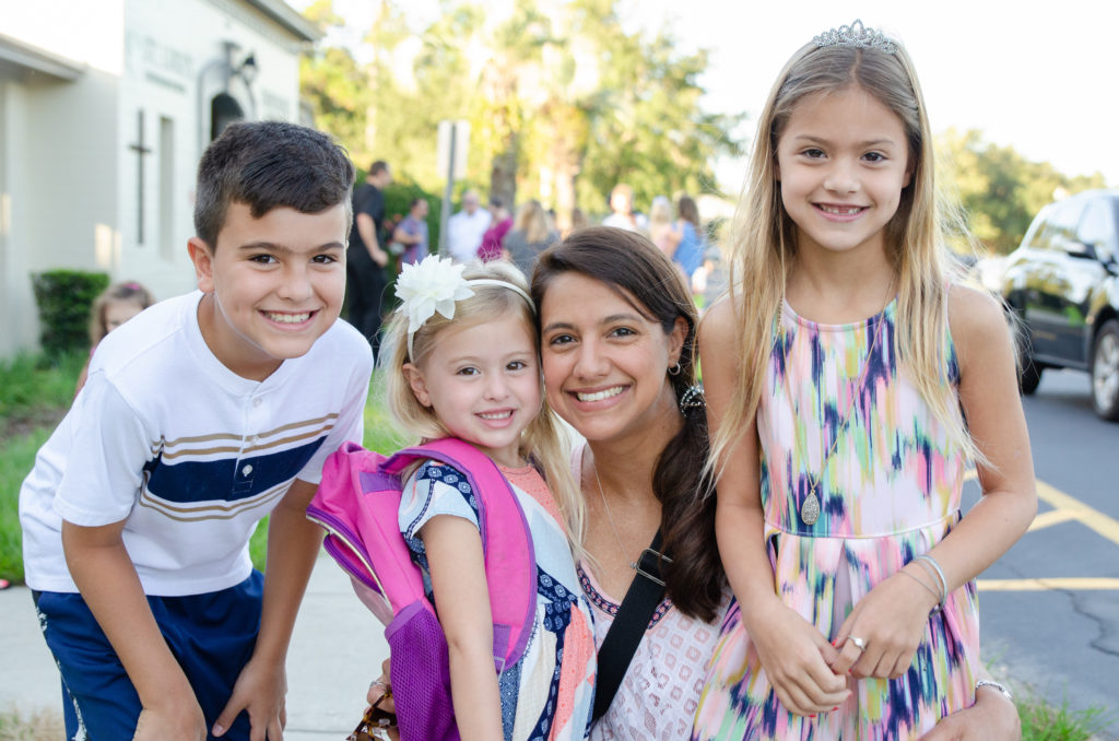St. Luke's Students –First Day of School